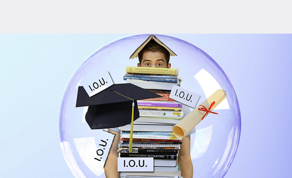 Struggling student with student loans