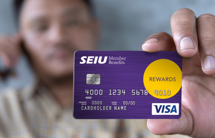 The New SEIU Rewards Visa Card