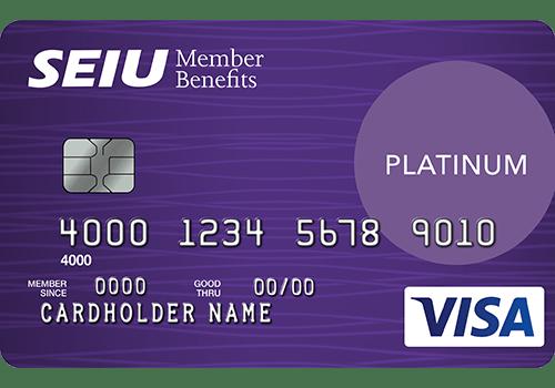 SEIU Platinum Edition Visa Card